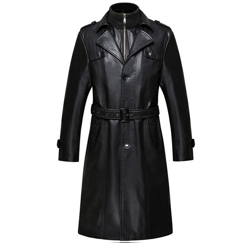 Leather Fashion Men Long Coats