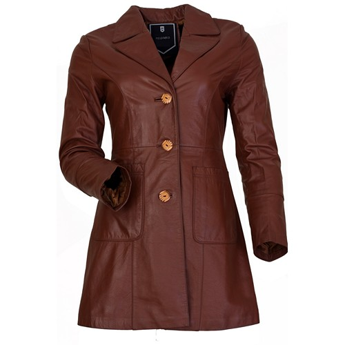 Leather Fashion Women Long Coats