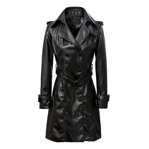 Leather Fashion Women Long Coats - Fashion Impex
